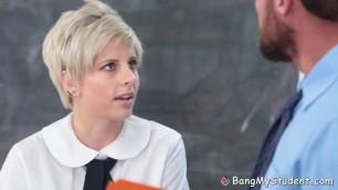 Shy Blonde Young Makenna Blue Seduces Her Sex Teacher