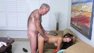 Teen Michelle Michaels Gets Humped By Old Guy For Money
