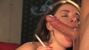 Smokeymouths Ava Dalush All White Smoking Sex Strong Tits