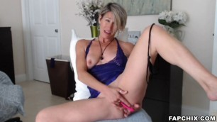 Tasty Blonde Milf Plays With Her Pussy And Squirts Hard