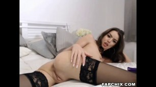Shaved Bitch Tease And Masturbate
