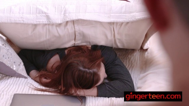 Redhead's stepbro uses the oldest trick to bang his horny stepsister