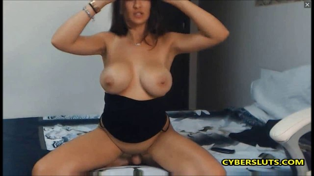 Gorgeous brunette with amazing big tits