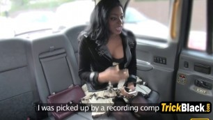 Black hottie pounded in fake taxi