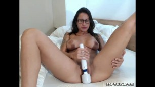 Busty Tramp With Hitachi On Cam