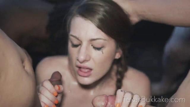Texas Bukkake With Ella In First Gangbang And Bukkake – E30 Perfect Body Fucked