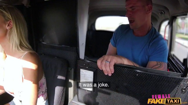 Female Fake Taxi With Nathaly Cherie In Passenger Obsessed By Drivers Boobs