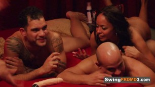 Lovely Matt and Alexis have hot sex in the shower before partying