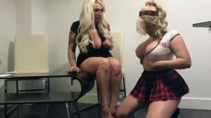 Naughty Blonde SchoolGirl Detention Time