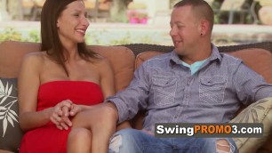 Swinger amateur couple hopes to have a deeper relationship after the Red Room, they are ready.