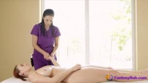 Super Hot Lesbians With Big Tits Enjoying Massage