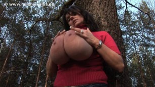 Milena Velba Park Surprise Big Tit Mature