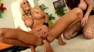 Lesbians Sophie Dee Clara Show