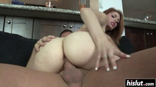 Busty hottie craves for a fat shaft