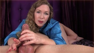 Mistress T Cumshot After Creampie Cleanup