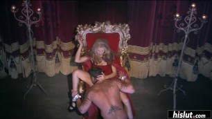 Mature blonde loves fucking on her throne