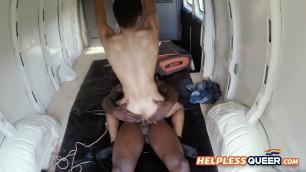 BIG DICKED black breeds HORNY ebony ass HARDCORE inside the VAN