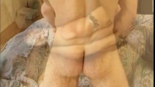 MILF makes two guys fuck her