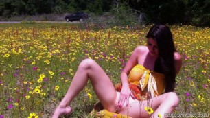 Hot Babe Solo Amber Hahn Field Of Flowers