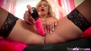 simply valentine Toys Stockings MILF Masturbation High Heels Hardcore Fingering Dildo Busty Blonde Big Tits