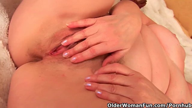 Granny with big tits and hairy pussy fucks a dildo Old Women Dildo Videos The Mature Porn