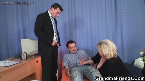 Granny dp porn