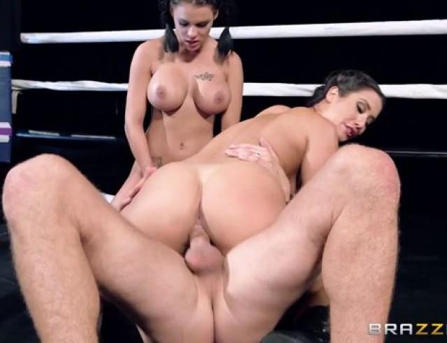 Eva Lovia & Peta Jensen Hot fuck on the boxing show hot brunettes