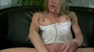 Mature with giant pussy piercing and cucumbers