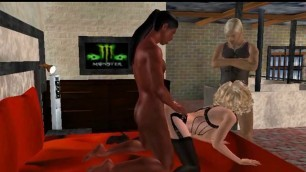 Sexy 3D Cartoon Babe Gets Fucked By An Ebony Stud blonde interracial porn
