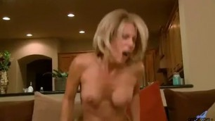 Horny blonde woman Jenny Mason is fucking her young lover while her husband is not at home sexy kitten