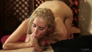 Pretty blonde Cadence Lux asked for a massage but what she got left her speechless passion work