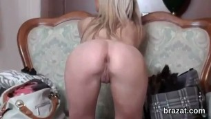 Casting beauty walks off after hardcore sex and anal drilling