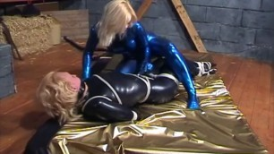 Lesbian bound and helpless