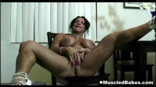 Big tits muscled dark milf