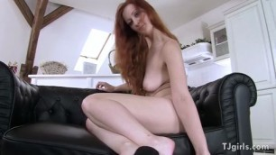 Redhead Gina Takes Her Clothes Off