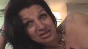 Mature Brunette Crack Whore Sucking Dick For Cash POV
