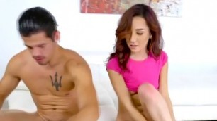 Tight Brunette Kiley Jay Face Fucked With Big Black Dick