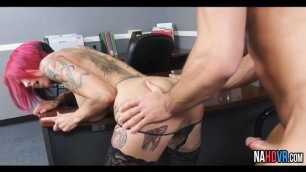 Pierced Big Tits Redhead Sucks And Fucks Boss Anna Bell Peaks