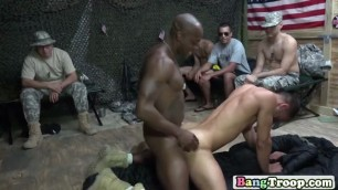 Interracial gay in doggy style