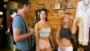 Gorgeous Girls Flashing Fantastic Tits In Money Talks Stunt