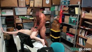 Pale brunette Alex Harper gets furry beaver drilled on table