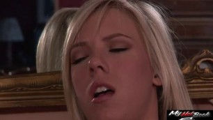 Bibi Jones naughty nanny caught up by the owner playing toy then fucked her