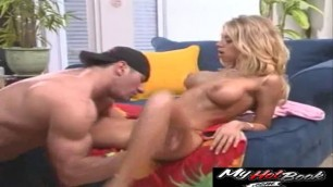 Katie Morgan and John West are fucking and cumshot is all over this sluts tits
