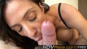 Brunette Ariella Ferrara Suck a Big Dick in POV Cum on Face