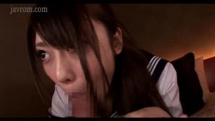 Asian schoolgirl got an oral fetish bukkake