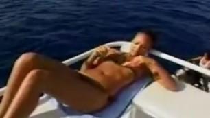 jessica alba on the boat