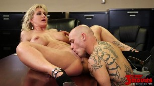 Moms ryan conner with big tits milf in office