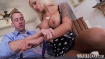 Cute blonde with big tits nina elle