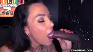 Dirty Wifes Lisa Ann Big Tit Milf Milking Multiple Big Cocks In Glory Hole