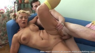 Experienced MILF from Milfsexdating Net fucks a young stud